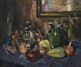Krisztik, Béla - Still Life with Jar and Vegetables