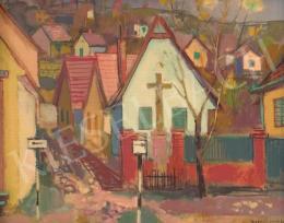 Bordás, Ferenc - Street  Scene, 1959