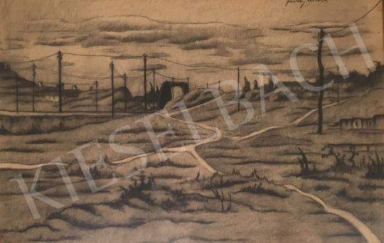 Eladó Feszty Masa - Táj villamoszlopokkal festménye
