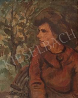 Remsey Jenő György - Női portré, 1968