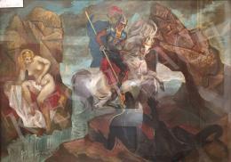 Molnár C. Pál - Szent György legyőzi a sárkányt