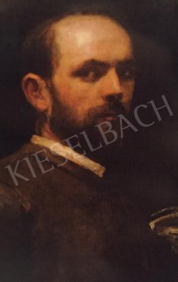 Lotz, Károly -  Portrait of Alajos Stróbl, 1884