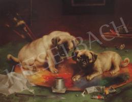 Reichert, Carl - Festő kölyökkutyák,1893