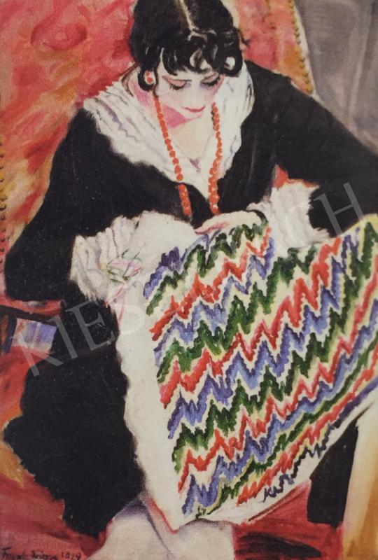 Frank Frigyes - Mimi hímez, 1929 festménye