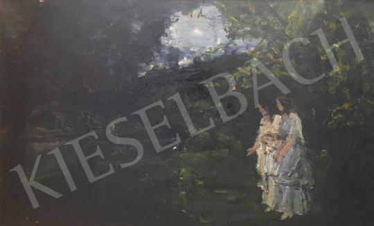 Eladó Náray Aurél - Séta a szabadban festménye