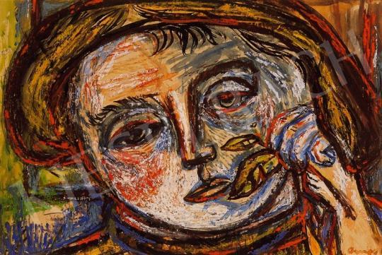 Ámos, Imre - Self - Portrait with a Bough | 18th Auction auction / 126 Item