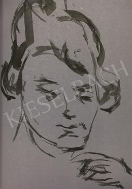 Bernáth Aurél - Sári arcképe, 1918