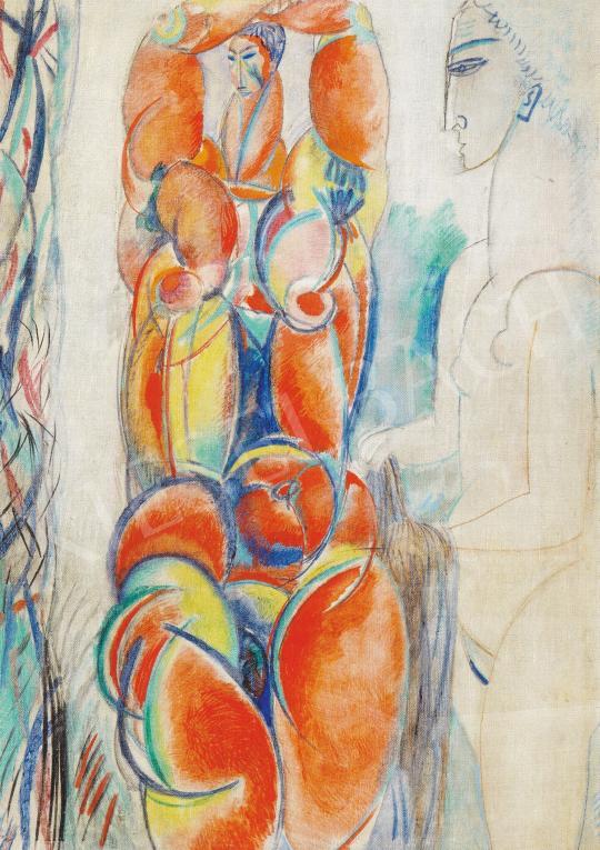 Hincz Gyula - Aktok, 1960 körül festménye