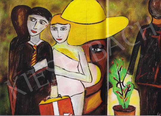 feLugossy László - Vontra várva, 2007 festménye