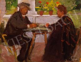 Kunffy, Lajos - Playing Cards on the Verandah