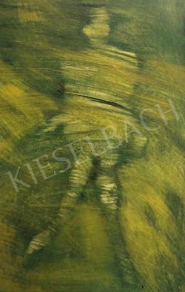 Erdélyi Eta - Ülő alak zöldben