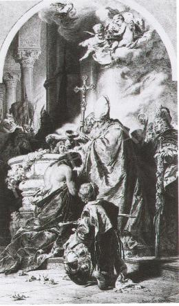 Benczúr, Gyula - Vajk Christening, 1980