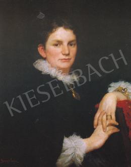 Benczúr, Gyula - The Artist's Wife,Max Karolina ,1880