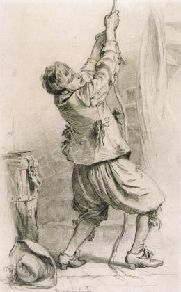 Benczúr, Gyula - The Alarm Bell, c.1878