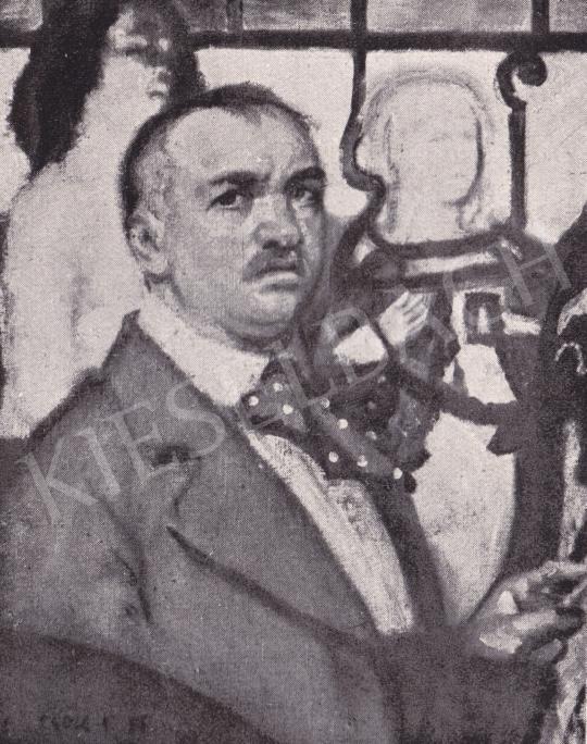 Csók István - Önarckép festménye