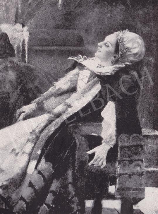 Csók István - Részlet a Báthory Erzsébetből festménye