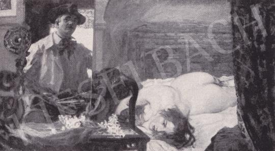 Csók István - Műteremsarok festménye