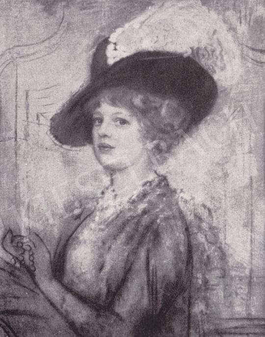 Csók István - Női arckép festménye