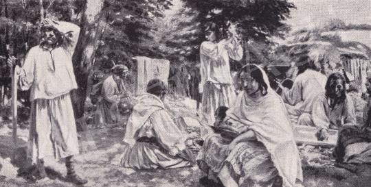 Csók István - Cigányok festménye