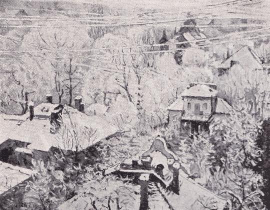 Csók István - Tél festménye