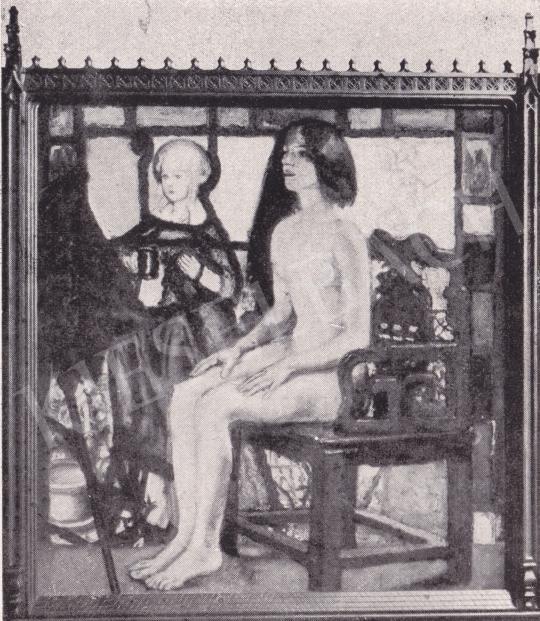 Csók István - Imádott asszony festménye