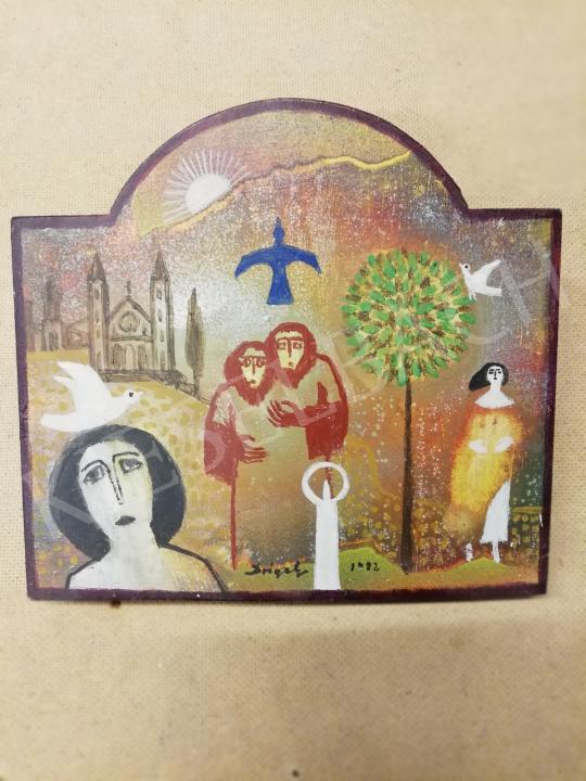 Eladó Drégely László - A szerelem kertje, 1982 festménye