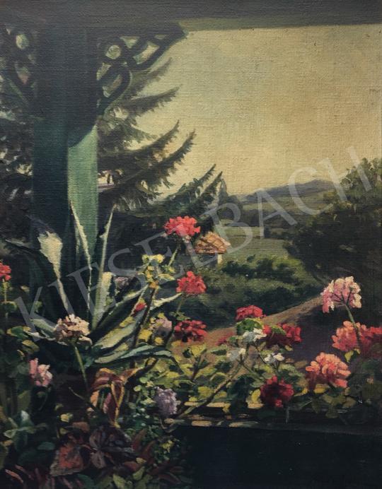 Eladó Kövér Gyula - Veranda kertrészlettel festménye