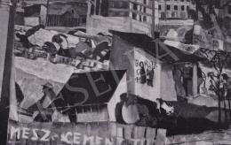 Derkovits Gyula - Külvárosi részlet, 1929