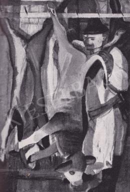 Derkovits Gyula - Húscsarnokban, 1930