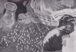 Derkovits Gyula - Piaci csendélet, 1932