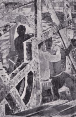 Derkovits Gyula - Hídépítők, 1932