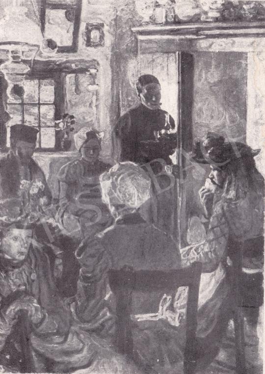 Perlmutter Izsák - Vasárnapi látogatás festménye