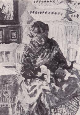Perlmutter Izsák - Lány parasztszobában
