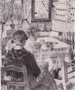 Perlmutter Izsák - Kézimunkáló lány