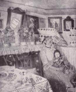 Perlmutter Izsák - Nő gyermekkel