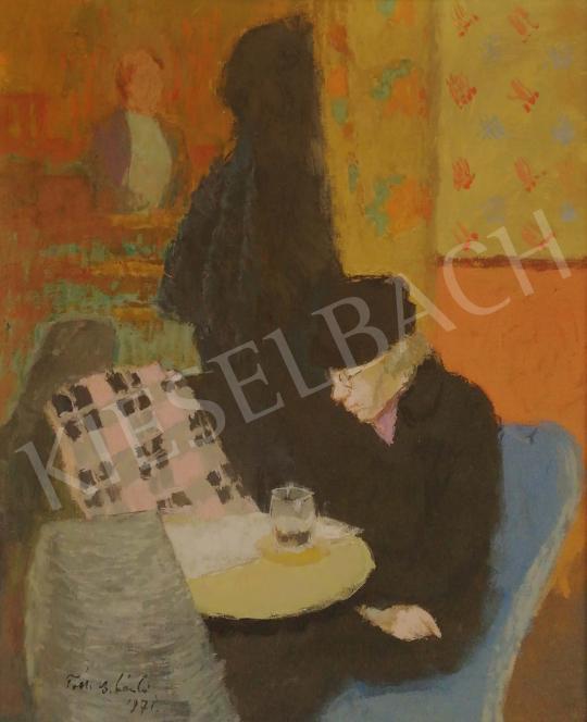 Tóth B. László - Siesta in the Coffee House painting