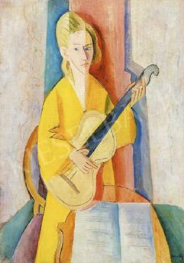 Kmetty, János - Girl with a Guitar