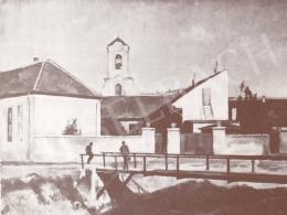 Bánovszky Miklós - Szentendrei részlet kis híddal, 1951
