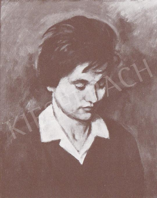 Bánovszky Miklós - Női arckép, 1976 festménye