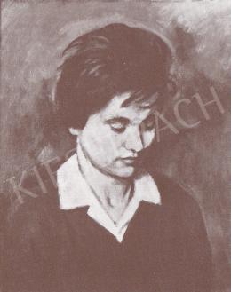 Bánovszky Miklós - Női arckép, 1976