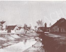 Bánovszky Miklós - Szentendrei részlet a Bükkös patakkal, 1968