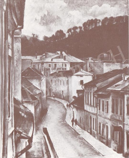Bánovszky, Miklós - Silver Streer in Besztecebánya, 1935 painting
