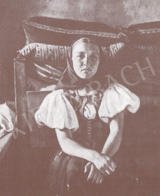 Bánovszky Miklós - Fiatal lány népviseletben, 1934 festménye
