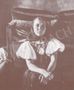 Bánovszky Miklós - Fiatal lány népviseletben, 1934