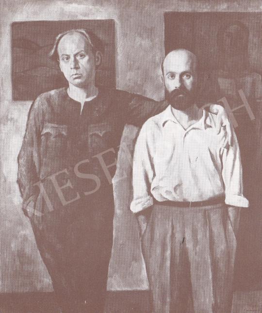 Bánovszky Miklós - Két festőbarátom, 1935 festménye