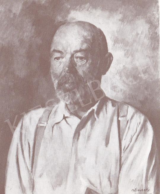 Bánovszky Miklós - Tornyai János arcképe, 1960 k. festménye