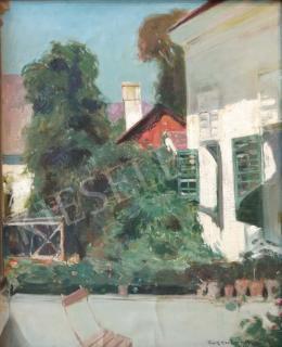 Burghardt Rezső - Napsütötte nyári veranda