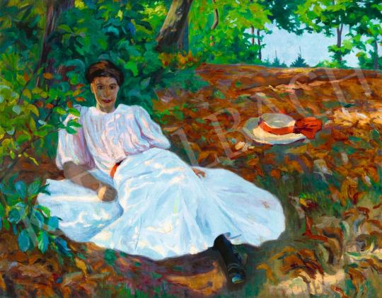 For sale  Plány, Ervin - Afternoon Rest, 1907 's painting