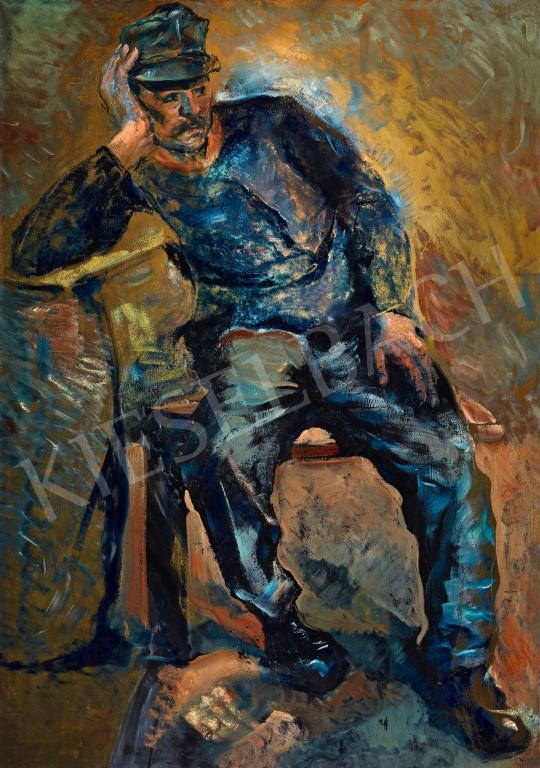 Eladó  Scheiber Hugó - Katonaruhában (Figyelem) festménye