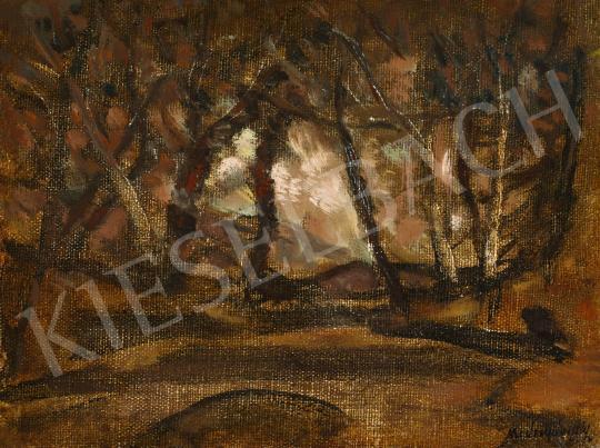 Mednyánszky László - Őszi erdő festménye